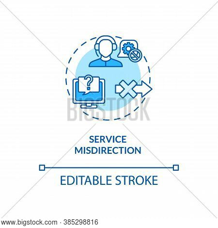Service Misdirection Concept Icon. Foil Targeted Attacks Idea Thin Line Illustration. Cybercrime. Ma
