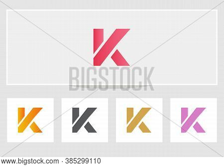 Modern Letter K Logo Design With Creative Modern Trendy. K Letter Design Vector