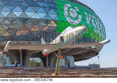 Belgrade, Serbia - February 22, 2020: Military Aircraft In Front Of Aeronautical Museum At Nikola Te