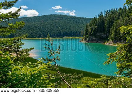 A Beautiful Composition With Black Lake. Durmitor, Montenegro, Europe.