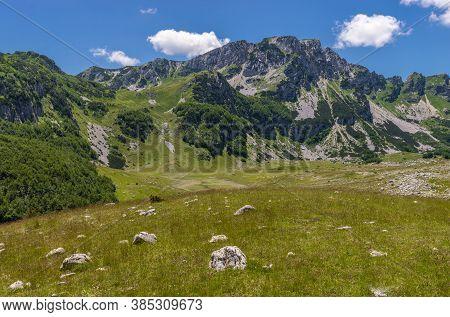 Mountain Landscape In Durmitor Park. Montenegro, Europe.