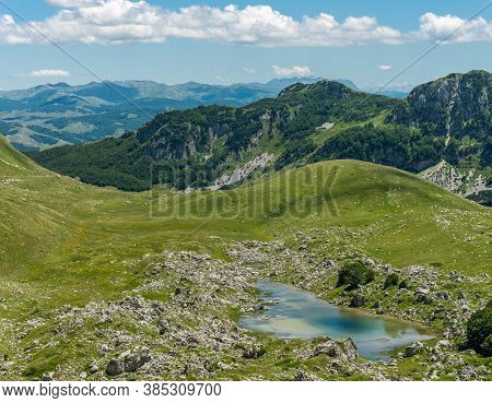 Mountain Landscape  In Durmitor Park, Montenegro, Europe.
