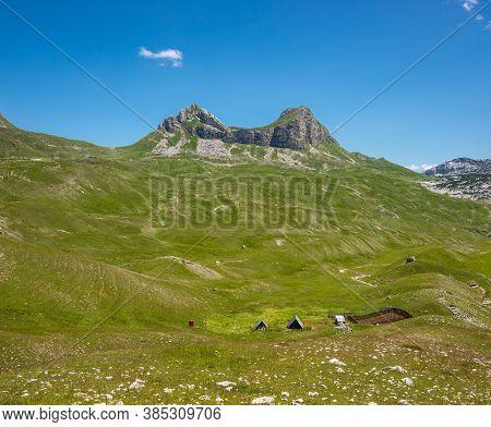 Mountain Landscape Pass Saddle. Durmitor, Montenegro, Europe.