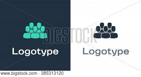 Logotype Project Team Base Icon Isolated On White Background. Business Analysis And Planning, Consul