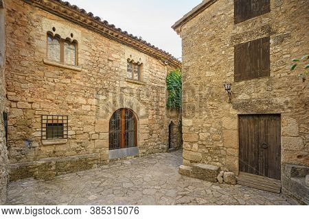 Narrow Street In Old Medieval Town Of Siurana, Spain