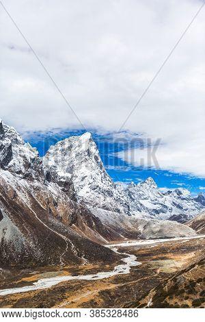River On The Way To Everest Base Camp. Sagarmatha National Park, Nepal