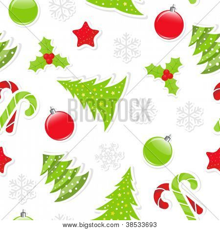 Seamless Christmas pattern, clipping mask used