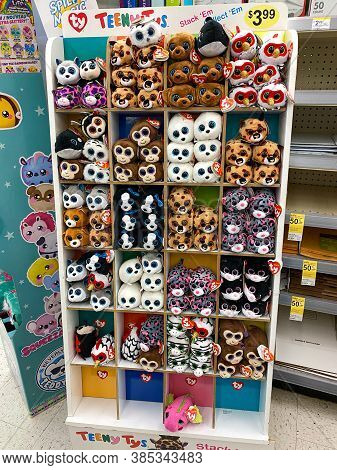 A Cute Display Of Ty Plush Stuffed Animals At A Walgreens Drug Store In Orlando, Florida.