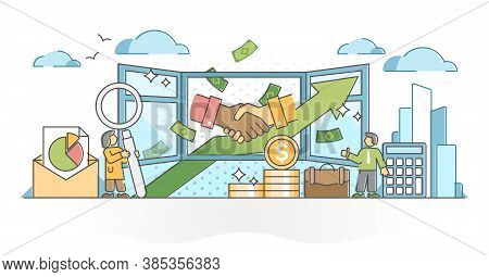 Business Transparency For Honest And Trust Clear Data Share Outline Concept. Financial Agreement Inf
