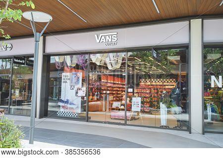 Samut Prakan, Thailand - July 28, 2020: Vans Shop In Siam Premium Outlets Bangkok. Vans Is An Americ