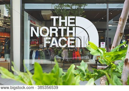 Samut Prakan, Thailand - July 28, 2020: The North Face Shop In Siam Premium Outlets Bangkok. Found I