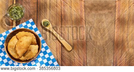 Traditional Baked Argentinian Empanadas Savoury Pastries With Meat Beef Stuffing