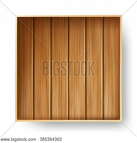 Wooden Box Timber Package For Storaging Vector