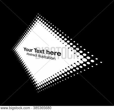 Halftone White Rhombus Perspective Frame Abstract Dots Logo Emblem Design Element For Technology, Me