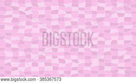Abstract Tile Pink Soft For Decoration And Background, Pink Texture For Decorative Wall, Geometric P