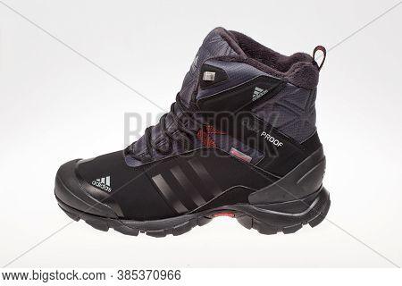Varna , Bulgaria - October 25, 2016 : Adidas Winter Shoe. Product Shot. Adidas Is A German Corporati