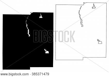 Midland County, Michigan (u.s. County, United States Of America, Usa, U.s., Us) Map Vector Illustrat