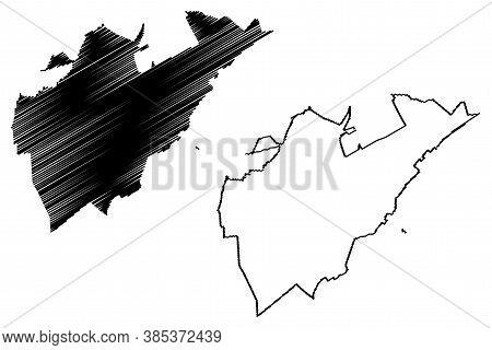 Boa Vista City (federative Republic Of Brazil, Roraima State) Map Vector Illustration, Scribble Sket