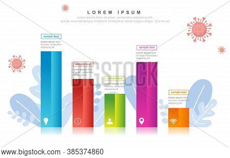 Graph Chart Fluctuation Business Declining In Pandemic Economic Recession Illustration
