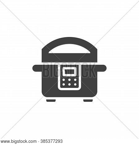 Cooking Steamer Vector Icon. Filled Flat Sign For Mobile Concept And Web Design. Electric Steamer Gl