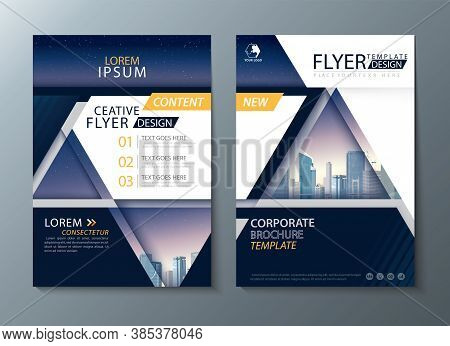 Annual Report Brochure Flyer Design, Leaflet Cover Presentation Abstract Background, Book Cover Temp