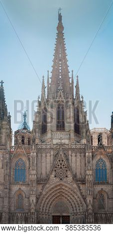 Barcelona, Spain - June 2, 2013: Cathedral Of The Holy Cross And Saint Eulalia Also Known As Barcelo