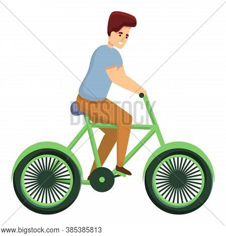 Lifestyle Bike Ride Icon. Cartoon Of Lifestyle Bike Ride Vector Icon For Web Design Isolated On Whit