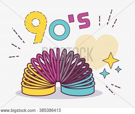 Design Style Element Collection 90s. Item From 90s Toy. Ussr. Vector Illustration.