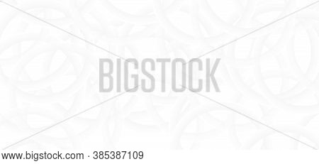 Circle Ring Shape Overlap Complicate Design White Abstract Background. Vector Illustration.