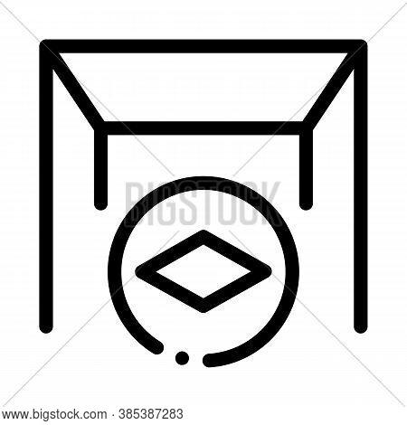 Matte Canvas Stretch Ceiling Icon Vector. Matte Canvas Stretch Ceiling Sign. Isolated Contour Symbol
