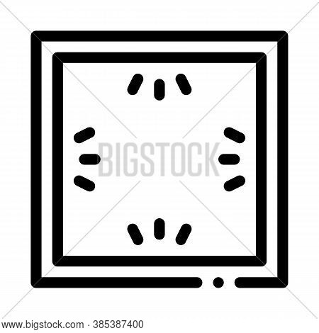 Ceiling Multi Perimeter Lighting Icon Vector. Ceiling Multi Perimeter Lighting Sign. Isolated Contou