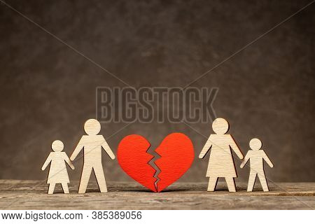 Divorce In A Family With Children. Who Will The Children Stay With After The Divorce. Mom With A Chi