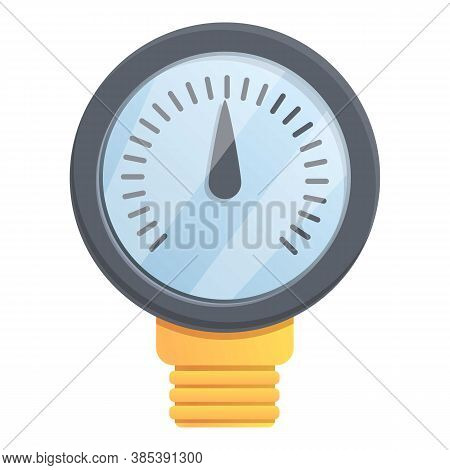 Valve Manometer Icon. Cartoon Of Valve Manometer Vector Icon For Web Design Isolated On White Backgr