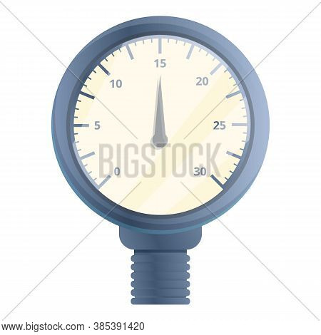 Control Manometer Icon. Cartoon Of Control Manometer Vector Icon For Web Design Isolated On White Ba
