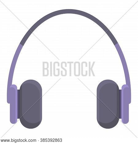Personal Headphones Icon. Cartoon Of Personal Headphones Vector Icon For Web Design Isolated On Whit