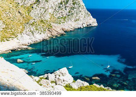 Cape Formentor area and surroundings, coast of Mallorca, Spain