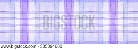 White Flannel Checks. Watercolor Picnic Blanket. Fashion Gingham Background. Seamless Flannel Checks
