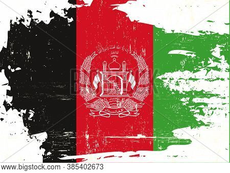 A grunge flag of afghanistan
