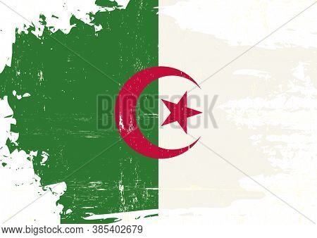 A grunge flag of algeria