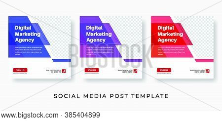 Modern Social Media Post Template For Digital Marketing, Corporate Business, Marketing Professional,