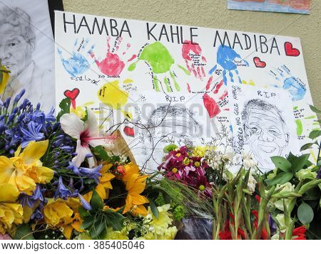 Houghton, Johannesburg, South Africa Dec 8, 2013: Nelson Rolihlahla Mandela Passed Away On December