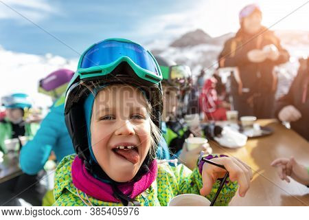 Cute Adorable Happy Funny Caucasian Little Toddler Boy Enjoy Having Family Fun And Making Selfie Wit