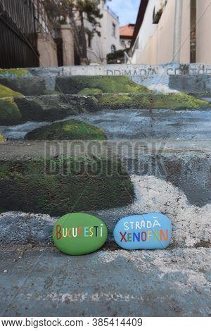 Bucharest, Xenofon Street, Bucuresti, Strada Xenofon, Souvenir With Stones