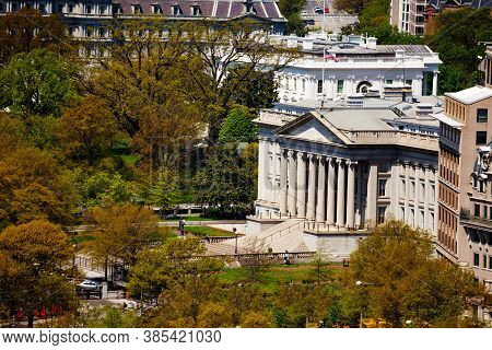 The Treasury Building In Washington Dc National Historic Landmark Which Is The Headquarters Of The E