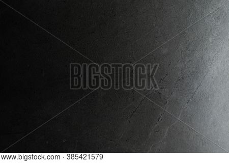 Dark Cement Background, With Side Light, Copy Space.