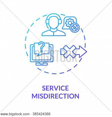 Service Misdirection Concept Icon. Network Security Attacks Idea Thin Line Illustration. Customer Su