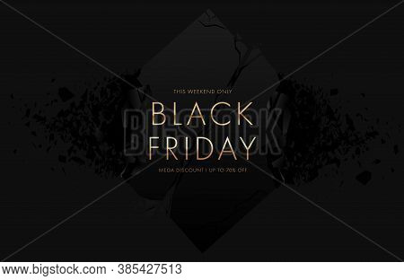 Black Friday Sale Banner With Explosive Effect. Vector Illustration Eps10