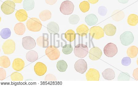 Children Wallpaper. Modern Holiday Confetti. Rainbow Child Print. Watercolor Dots Splash. Polka Patt