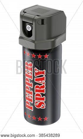 Pepper Spray Bottle Can Isolated On White Background - 3d Illustration
