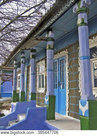 Moldova, Orhei District, 08/10/2008. The Unique Architecture Of Moldavian Rural Houses. Folk Archite